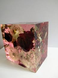 wedding flowers paperweight preserving wedding flowers in large resin cube like glass