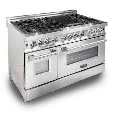 zline kitchen and bath zline 48 in stainless steel 6 0 cu ft 7