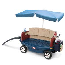 wagon baby deluxe ride relax wagon with umbrella at tikes