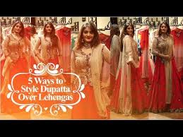 Different Ways Of Draping Dupatta On Lehenga Different Dupatta Draping Styles Lehenga Dupatta Draping Style