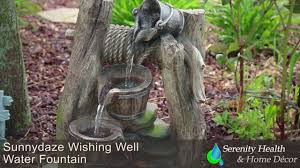 Home Decor Water Fountains by Sunnydaze Outdoor Wishing Well Water Fountain Dw 161140 Youtube