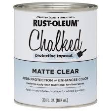 rust oleum 30 oz ultra matte interior chalked topcoat clear
