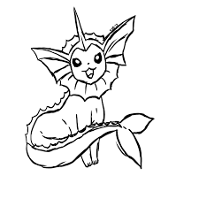 vaporeon coloring pages chuckbutt com