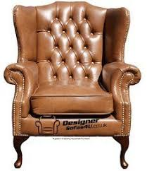 chesterfield mallory high back wing chair uk manufactured old