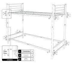 Bunk Bed Assembly Futon Directions How To Put Together A Futon Bunk Bed Target Futon