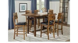 progressive furniture willow counter height dining table rectangular counter height dining table cappuccino finish counter