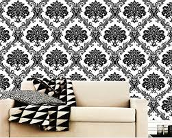 Black Damask Wallpaper Home Decor by Compare Prices On Black Luxury Wallpaper Online Shopping Buy Low