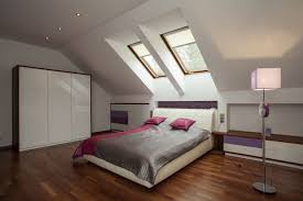 glass sloping window connected cottage attic bedroom ideas stone