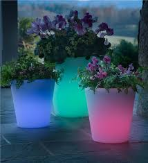 Glow In The Dark Planters by Large Color Changing Solar Planter Collection Accessories