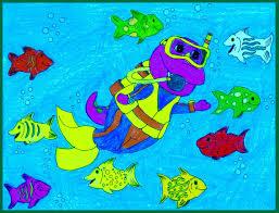 barney goes scuba diving by bestbarneyfan deviantart com on