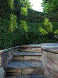 informal hedge patio contemporary with manicured themed statues