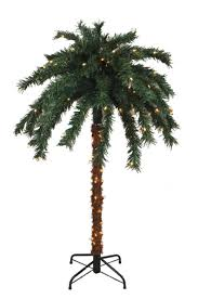 6 pre lit tropical outdoor summer patio palm tree clear lights