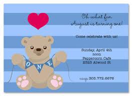first birthday boy teddy bear invitation myexpression 22130