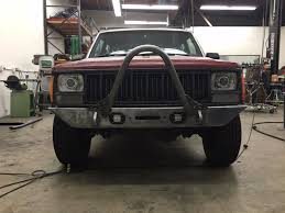 jeep stinger bumper 84 to 01 jeep cherokee xj front bumper with stinger led u0027s winch d