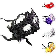 womens masquerade masks12 christmas tree express deluxe feather mask assortment 1 dozen