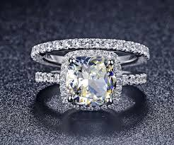 buy diamonds rings images 2ct cushion reliable synthetic diamonds rings set engagement halo jpg