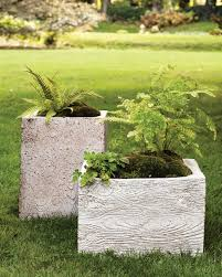 Faux Stone Planters by Decorative Flowerpots And Planters Martha Stewart