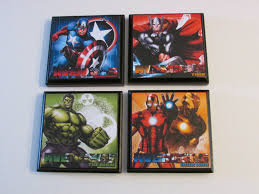avengers room wall plaques set 4 avengers boys room decor