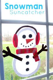 suncatcher snowman craft primary theme park