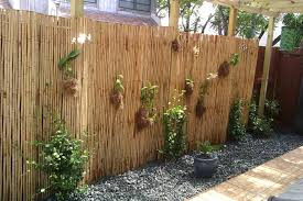 Fence Landscaping Ideas Bamboo Fence Design With Tropical Landscaping Ideas And Miami