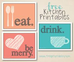 printable home decor free kitchen printables u2013 eat drink and be merry kitchens