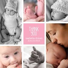 baby thank you cards gorgeous multi photo girl baby thank you card from sleepymoon