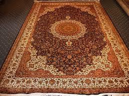 Arabesque Rugs Isfahan Silk Rug Arabesque Museum Quality 7ft X 10ft Kashmir