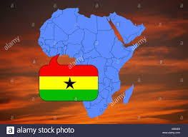 Ghana Africa Map Africa Map And Flag Of Ghana Stock Photo Royalty Free Image