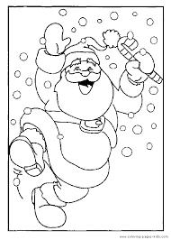 christmas coloring sheet kids dancing santa