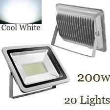 econo light landscape lighting 20x 200w led flood light cool white landscape garden outdoor fence