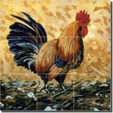 Ceramic Tile Mural Backsplash by Ceramic Tile Mural Backsplash Mirkovich Rooster Chickens Art 17 X