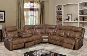 Motion Leather Sofa U7303c Motion Sectional Sofa In Walnut Leather Gel By Global