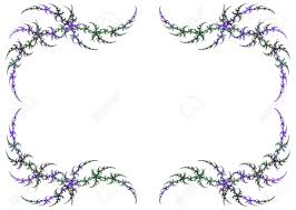 mardi gras frame mardi gras colored fractal frame with green and purple a