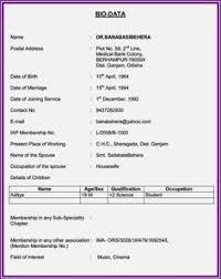 simple biodata format for job image result for simple biodata format for job fresher ss