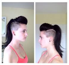 hair cuts that are shaved on both sides and long on the top for women image result for high undercut girl hair 3 pinterest