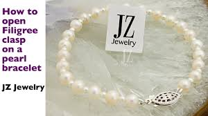 pearl bracelet clasps images How to open a filigree clasp on a pearl necklace jpg