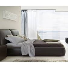bedroom black leather bed queen size white leather bed white