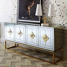 Jonathan Adler Bar Cabinet Delphine Mirrored Credenza Modern Furniture Jonathan Adler