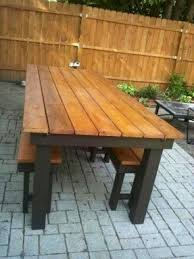 Wooden Tables And Benches Home Design Cute Outdoor Table With Benches Modern Patio Home
