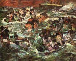 the sinking of the titanic 1912 sinking of the titanic 1912 max beckmann wikiart org