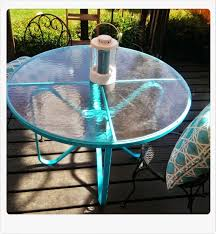 Retro Metal Patio Furniture - meg made creations spray paint patio table from rust stained to