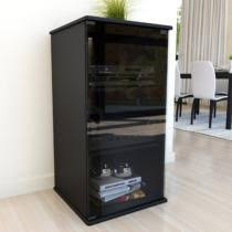 Audio Cabinets With Glass Doors 8 Best Entertainment Center Images On Pinterest Glass Doors
