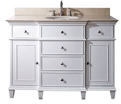 Bathroom   Contemporary For White  Inch Bathroom Vanity - 48 white bathroom vanity cabinet