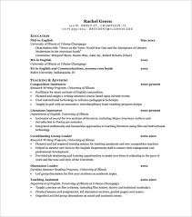 Job Shadowing Resume by Sample Teaching Cv Template 8 Download Free Documents In Pdf Word