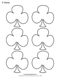 4 leaf clover template blank clover templates printable shamrock clubs template