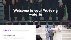 wedding website templates godaddy