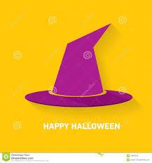 halloween purple and orange background vector tall witch hat on orange background stock vector image
