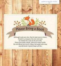 Baby Shower Instead Of A Card Bring A Book Prompt Obtain Woodland Fox Woodland Child Bathe Please