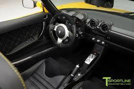tesla supercar brilliant yellow tesla roadster custom ferrari black interior