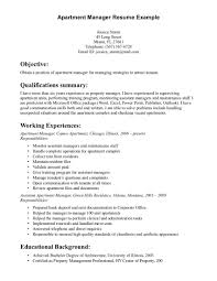 Sample Resume Objectives Maintenance by Property Manager Resume Objective Resume For Your Job Application